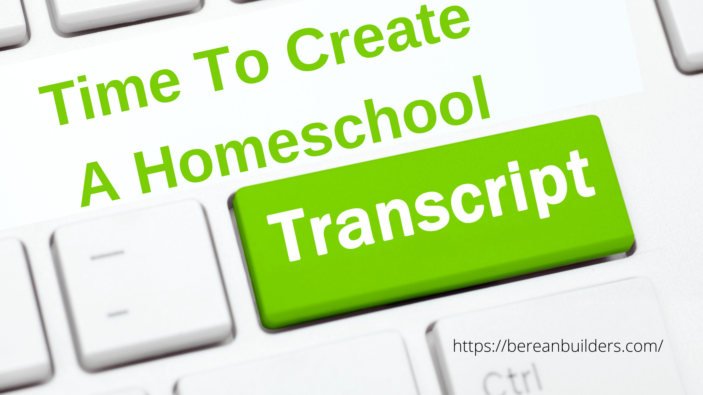 text Time to create a homeschool transcript